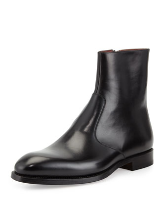Leather Side-Zip Boot