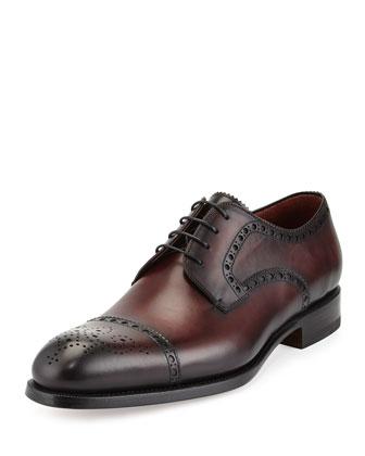 Medallion Cap-Toe Derby Shoe