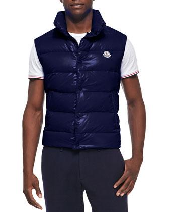 Tib Puffer Vest, Blue