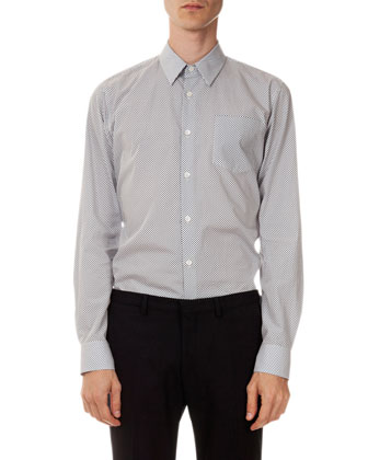 Curley Dot-Print Shirt