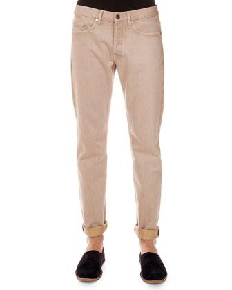 Pender 5-Pocket Jeans, Cream