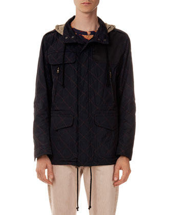 Vincent Quilted Field Jacket, Navy