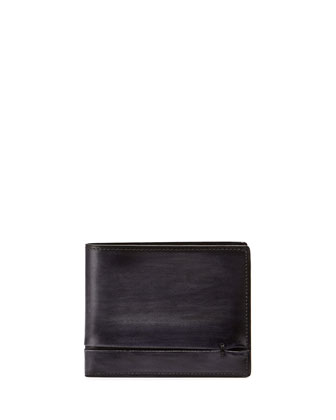 Amarello Leather Bifold Wallet, Black