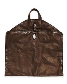 Soft Calfskin Garment Bag, Dark Brown