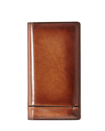 Ebene Venezia Leather Long Wallet, Brown
