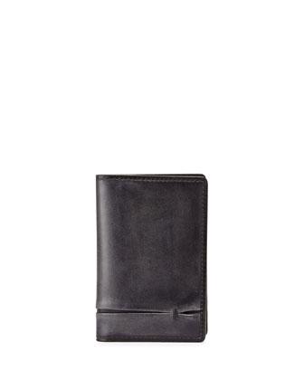 Jagua Leather Card Case, Black