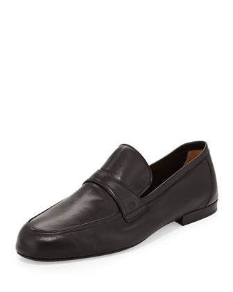 New Maffeo Deerskin Slip-On, Black