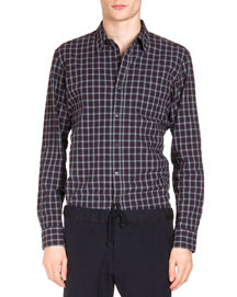 Corbin Plaid Woven Button Shirt