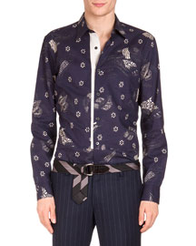Floral Printed Button Shirt