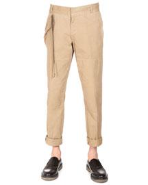 Side-Tabbed Chino Pants