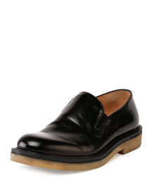 Polished Leather Slip-On Loafer