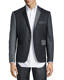 Colorblock Three-Button Jacket