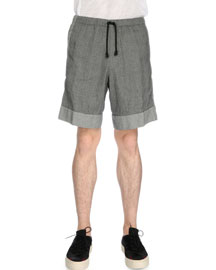 Drawstring Jacquard Shorts