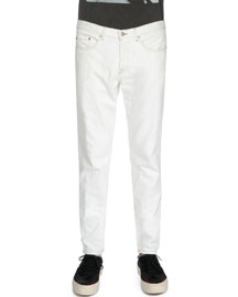 Slim-Fit Denim Jeans, White