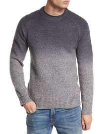 Hayes Dip-Dyed Merino Wool Sweater, Charcoal