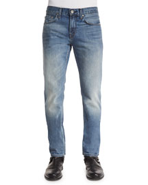 Tyler Faded Denim Jeans, Light Blue