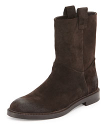 Brad Suede Pull-On Boot, Brown