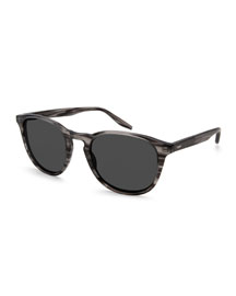 Plimsoul Round Acetate Sunglasses, Gray