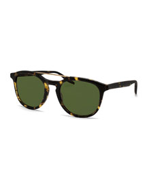 Rainey Round Top-Bar Sunglasses, Matte Heroine Chic
