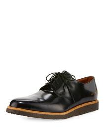Box Calf Leather Blucher, Black