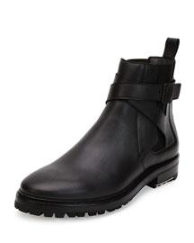 Calfskin Lug-Sole Chelsea Boot, Black