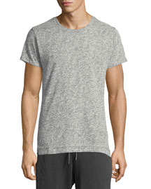 Short-Sleeve Cotton-Blend Tee, Gray