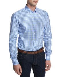 Medium-Gingham Woven Dress Shirt, Blue