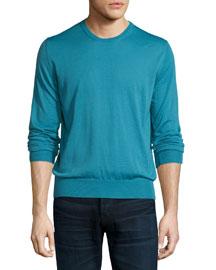 Crewneck Cashmere Sweater, Green