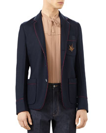 Cashmere Pajama Jacket, Blue