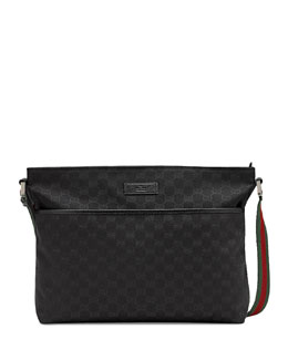 Gucci Canvas Messenger, Black