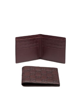 Gucci Bi-Fold Wallet, Chocolate