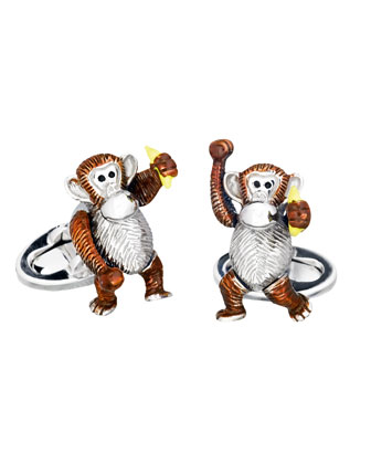 Moving Monkey Cuff Links