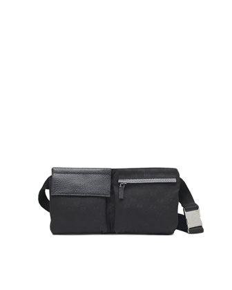 Canvas Belt Bag, Black