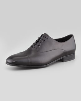 Salvatore Ferragamo Fantino Lace-Up Shoe, Black