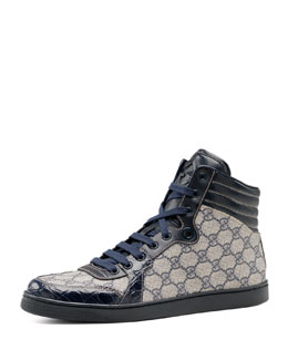 Gucci GG Plus-Crocodile Sneaker