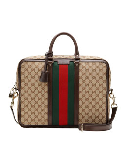Gucci Canvas Briefcase