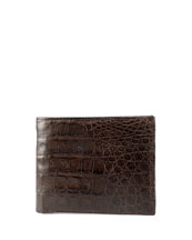Santiago Gonzalez Crocodile Bi-Fold Wallet, Brown