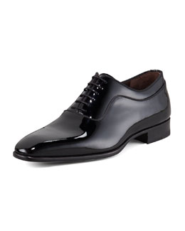 Bergdorf Goodman Patent Lace-Up Oxford