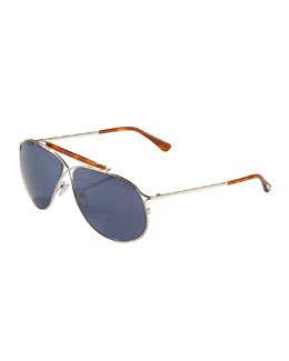 Tom Ford Magnus Metal Aviator Sunglasses