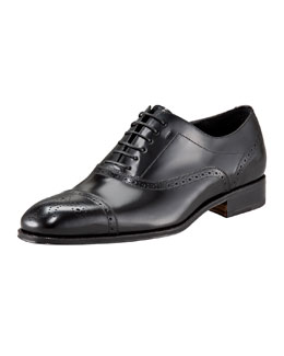 Salvatore Ferragamo Caesy Medallion-Toe Oxford