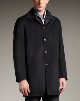 Ermenegildo Zegna Reversible Raincoat, Black