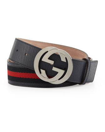 Belt with Interlocking G Buckle