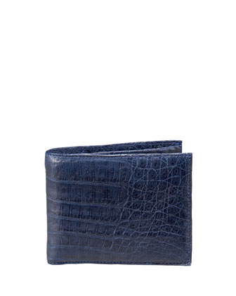 Crocodile Wallet, Navy