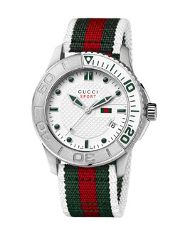 Gucci Sport XL Watch, White