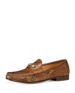 Gucci Classic Pythin Bit Loafer