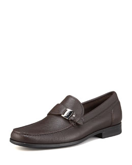 Salvatore Ferragamo Bravo Buckle Loafer, Hickory