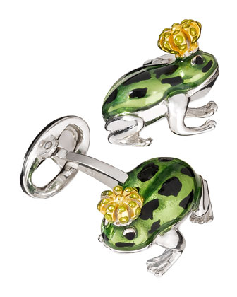 Frog Prince Cuff Links
