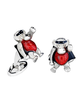 Superhero Monkey Cuff Links