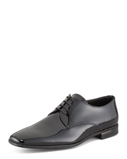 Prada Patent Leather Lace-Up Shoe