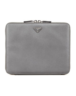 Prada Saffiano Zip-Around iPad® Case, Gray